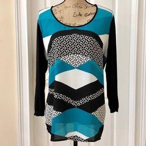 Style & Co geometric pattern tunic